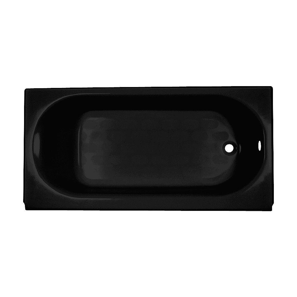 American Standard Princeton 5 ft. Drop-in Rectangular Left-Hand Americast Bathtub in Black