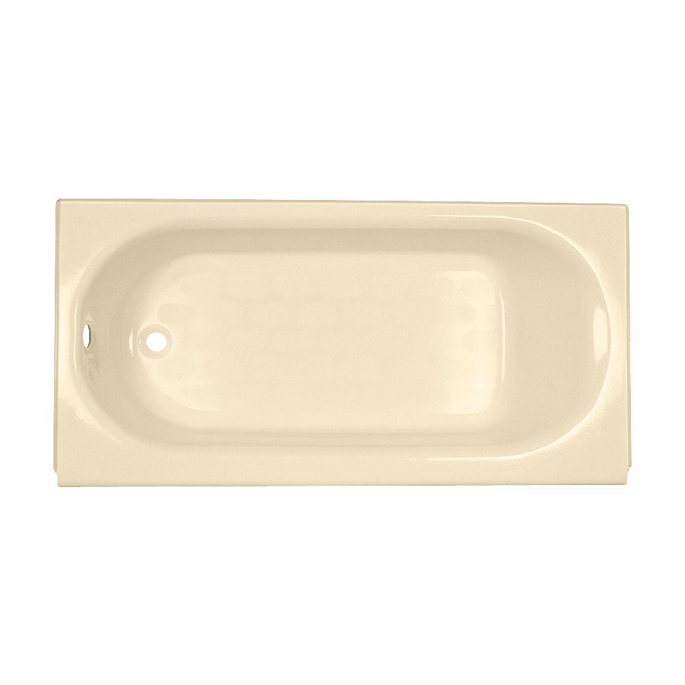 American Standard Baignoire en acrylique ovale Ellisse de 5 3/4 pieds avec vidage réversible en blanc