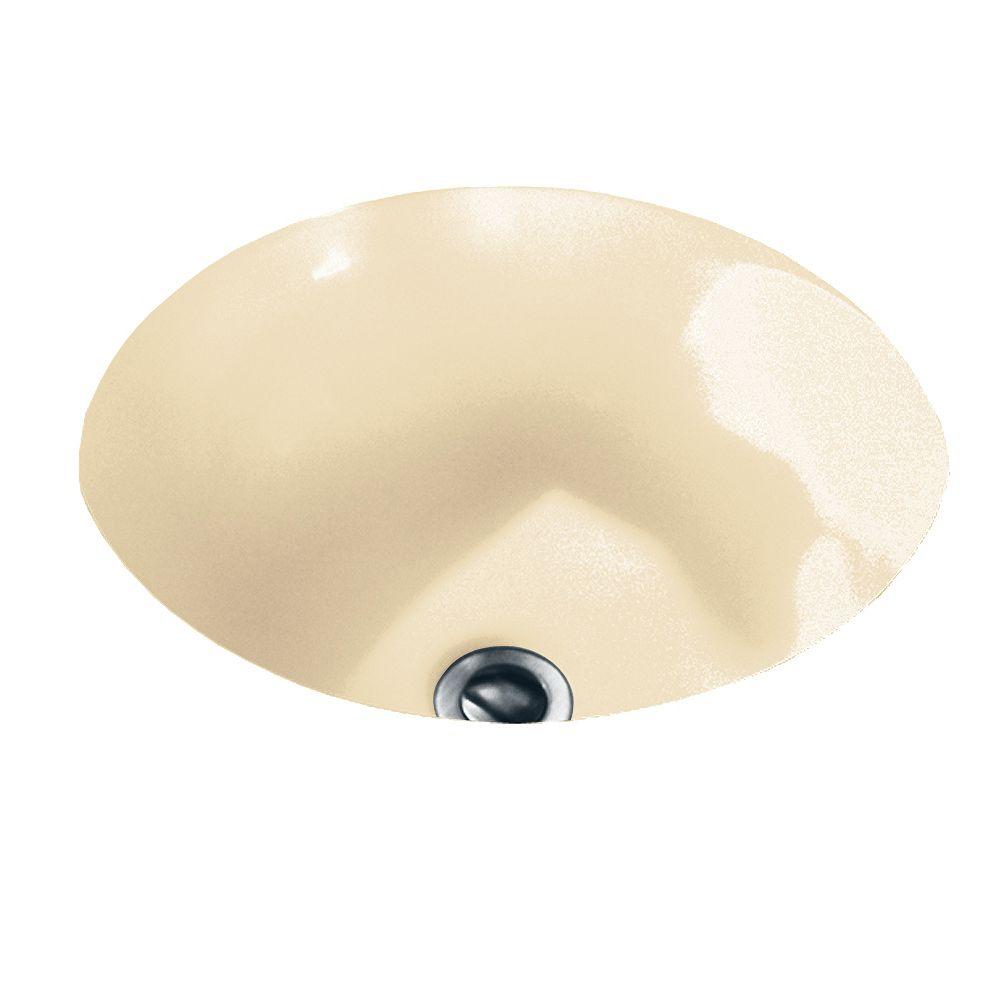 American Standard Salle de bain ovale en orbite, évier en os