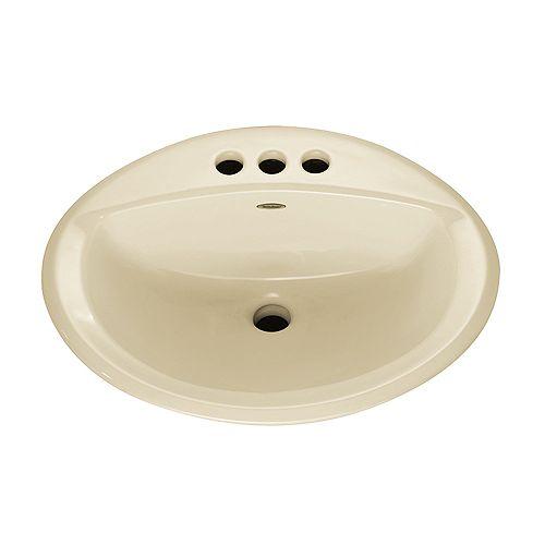 Aqualyn Self-Rimming Drop-In Bathroom Sink in Linen