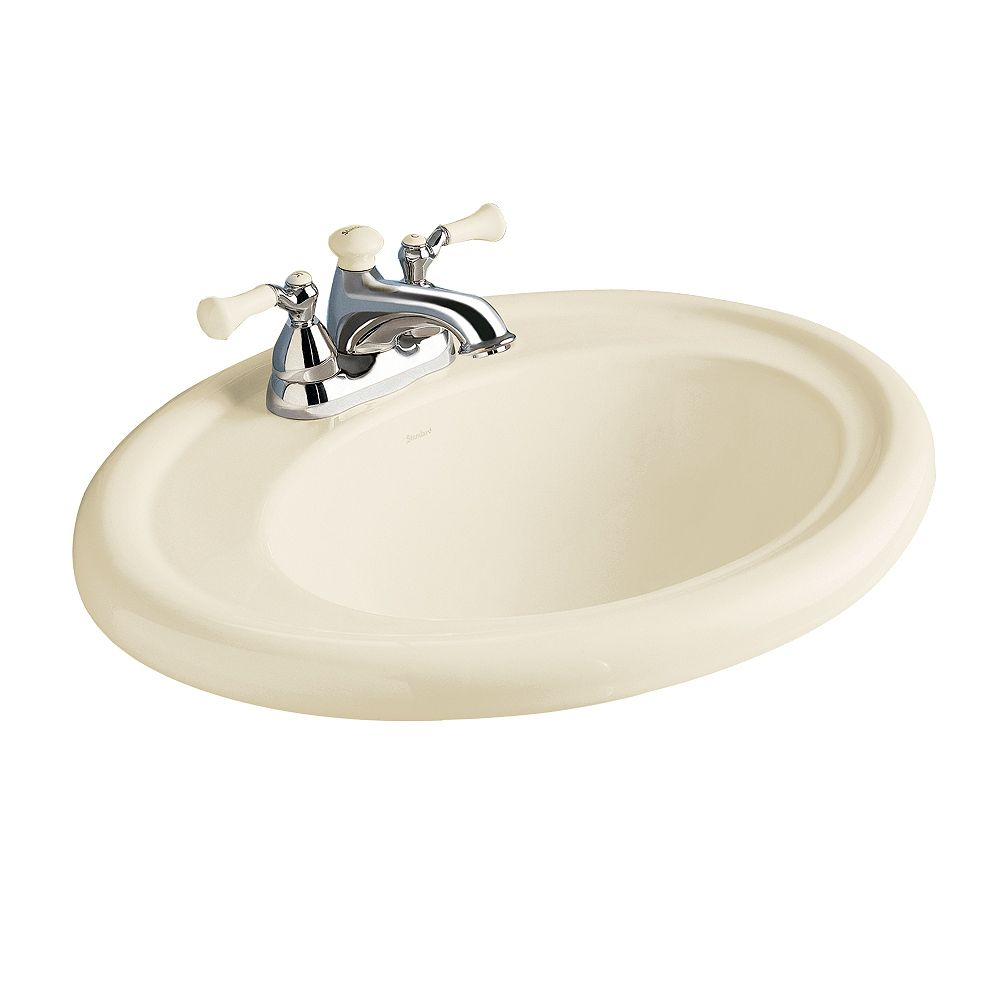American Standard Standard Oval Collection Self-Rimming Bathroom Sink in Linen