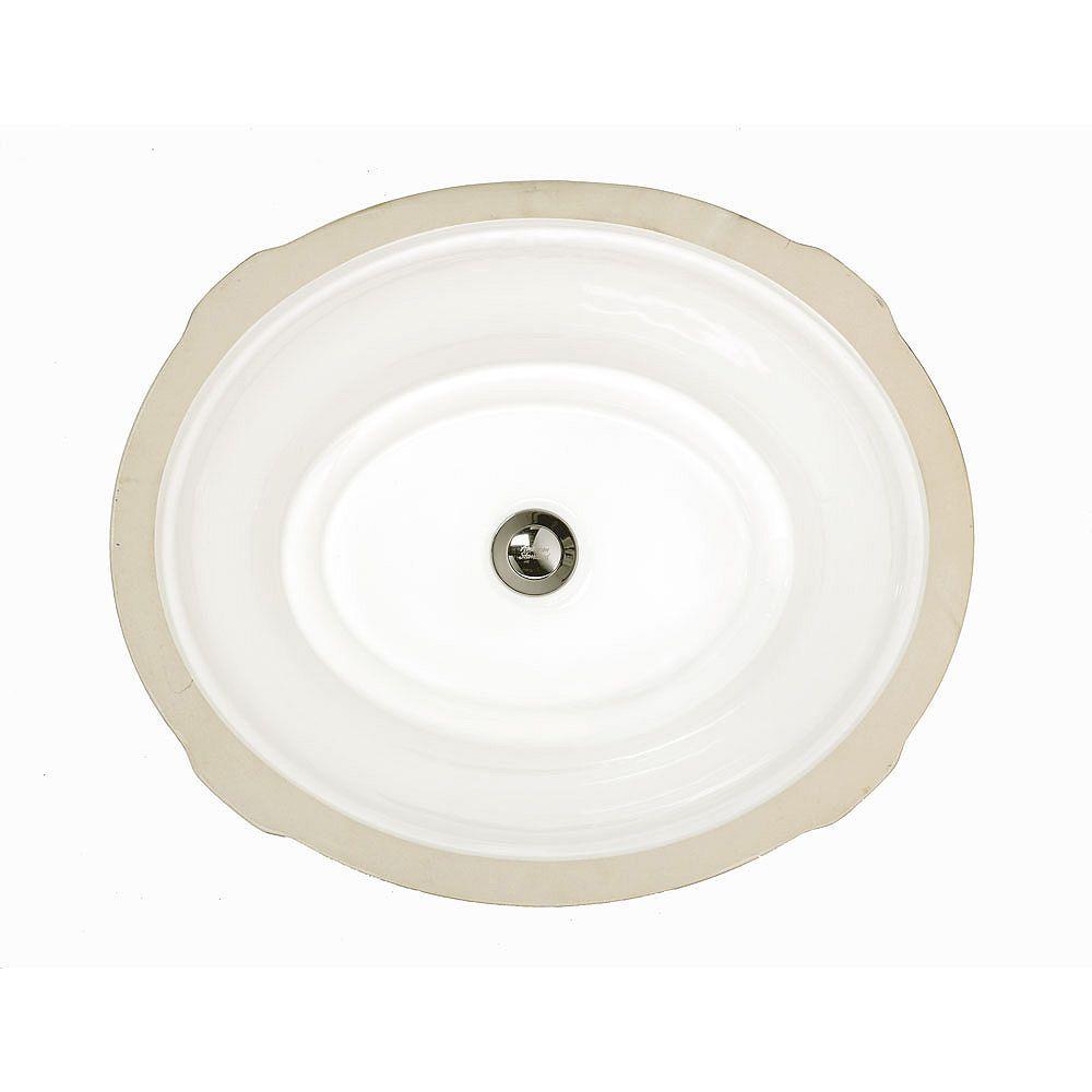 American Standard Lavabo de salle de bain ovale Tudor en blanc