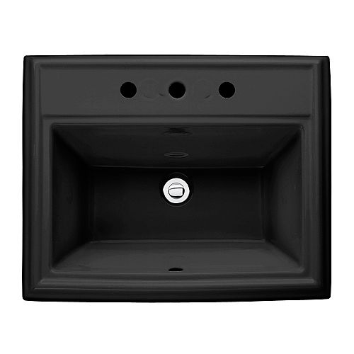 American Standard Évier de salle de bains à encastrer en noir de Town Square