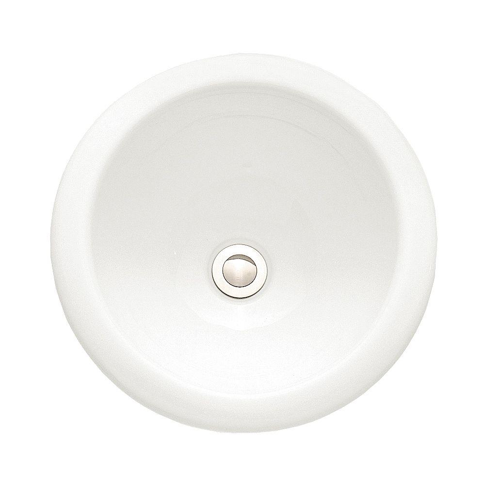 American Standard Circulaire de Royton 13,75 pouces x 6,63 pouces x 13,75 pouces Évier de salle de bains en porcelaine vitrifiée en blanc