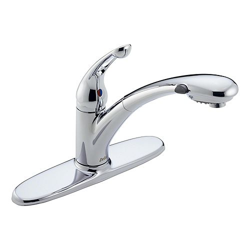 Signature Single-Handle Pull-Out Sprayer Kitchen Faucet in Chrome