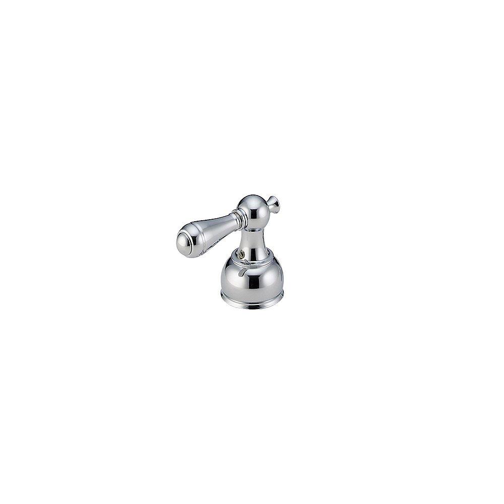 Delta Manettes leviers traditionnelles en chrome pour robinets à 2 manettes (ensemble de 2)