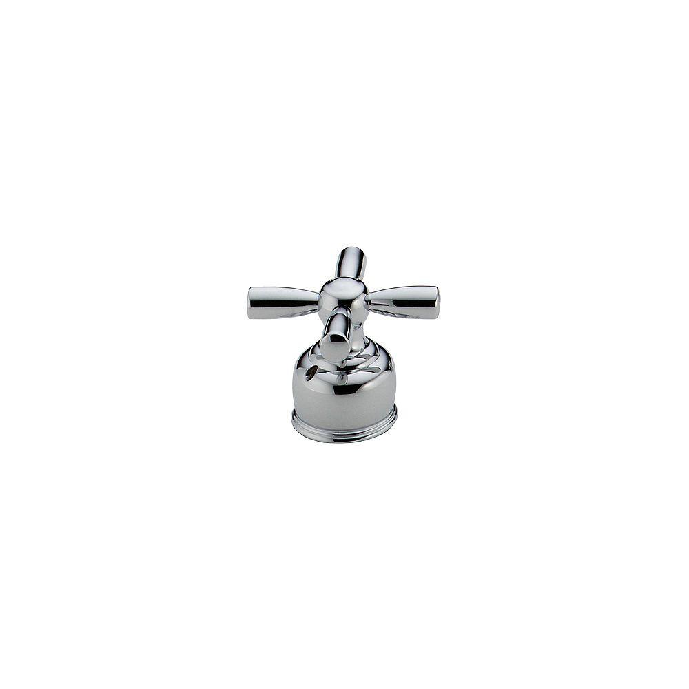 Delta Paire de manettes à croisillons en chrome pour robinets de baignoire romaine