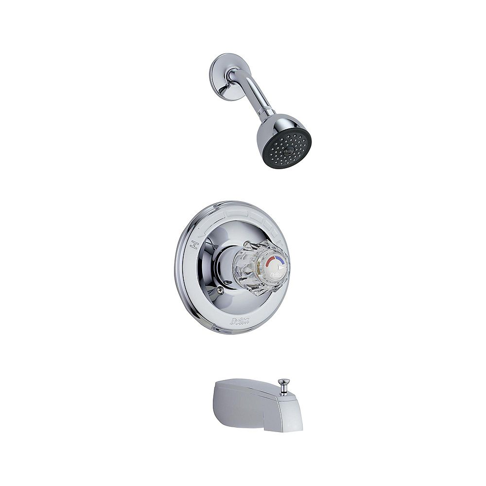 Delta Garniture pour manette simple de douche à équilibrage de pression de la collection Classic en chrome