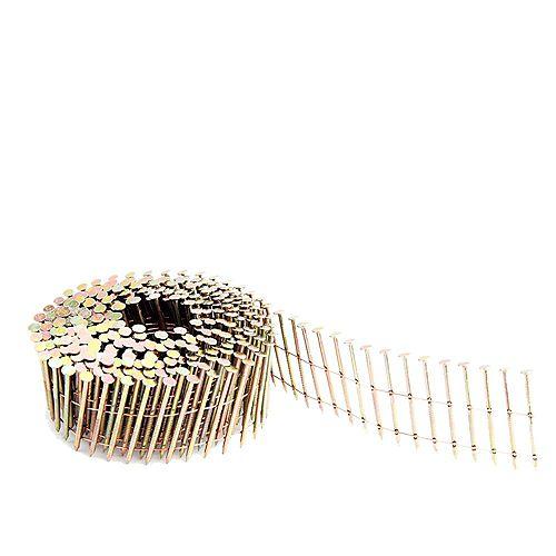 Clous en bobine annelés et galvanisés pour parement soudés par fil 1 3/4 po – .92po, boîte colorée de 4200