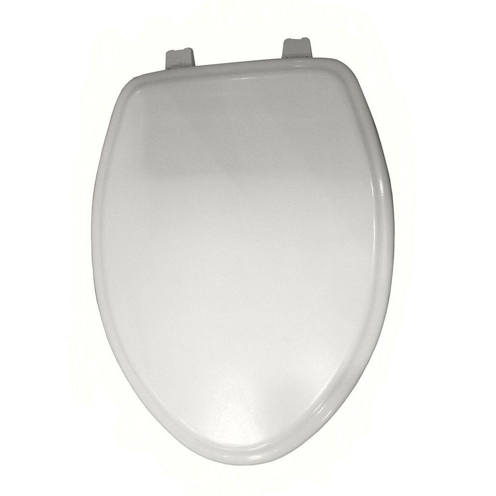American Standard Siège de toilettes à l'avant fermé et allongé de la place de la ville en blanc