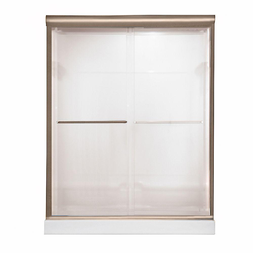 American Standard Porte de douche Euro 42-46 po x 69 po, en verre bistro