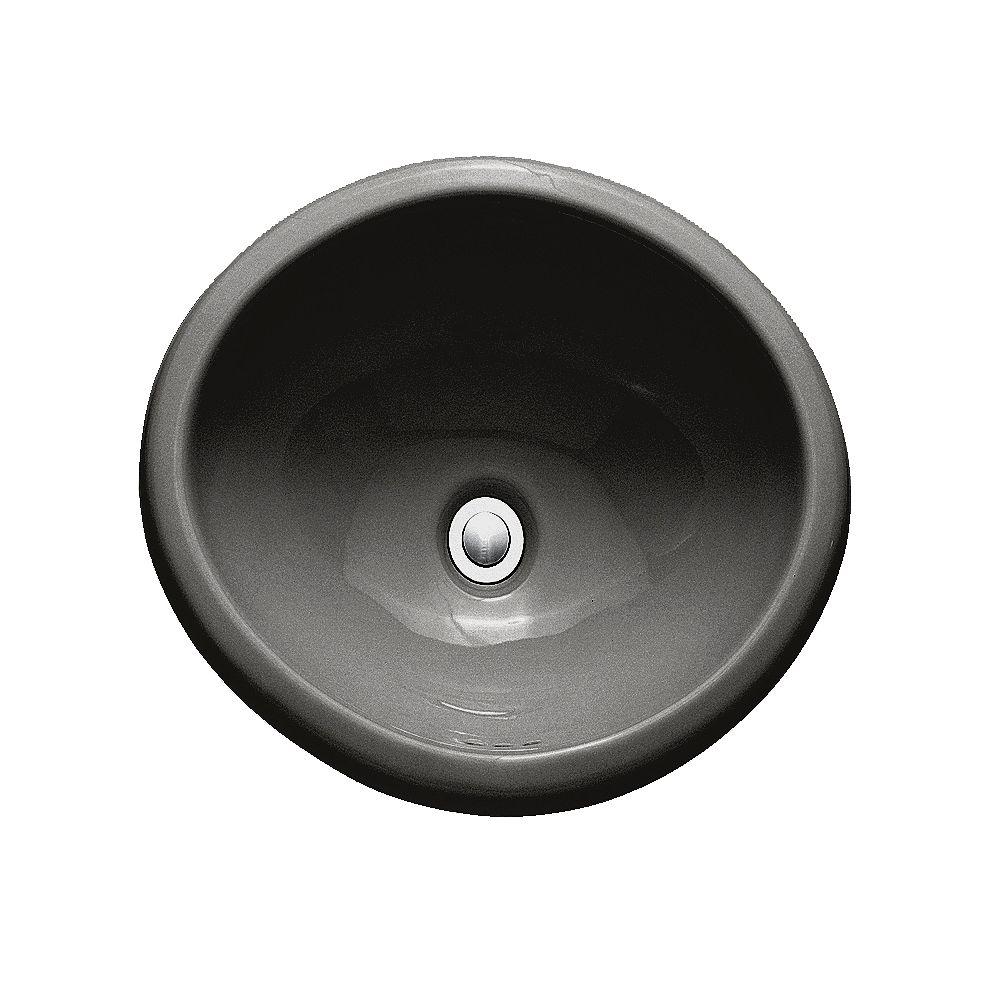 American Standard Lavabo de salle de bains à comptoir circulaire Sebring en noir