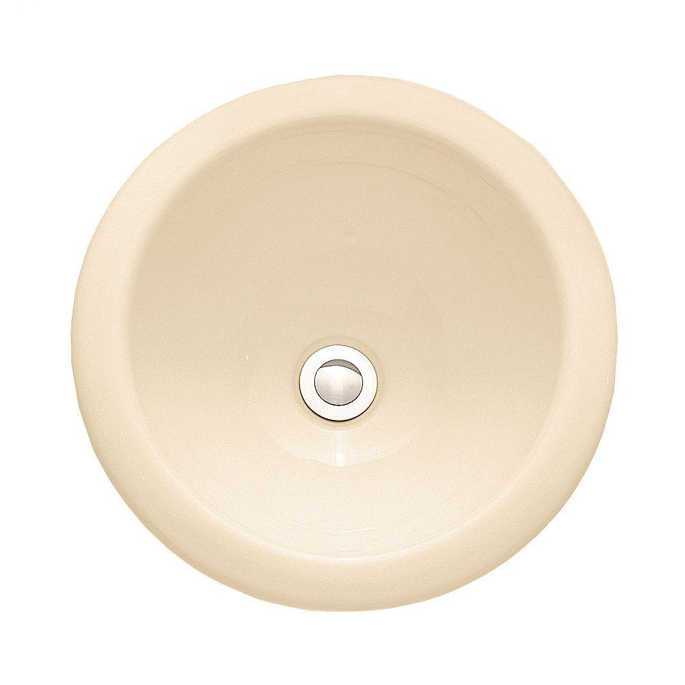 American Standard Évier de salle de bains circulaire à auto-régulation de Royton en os