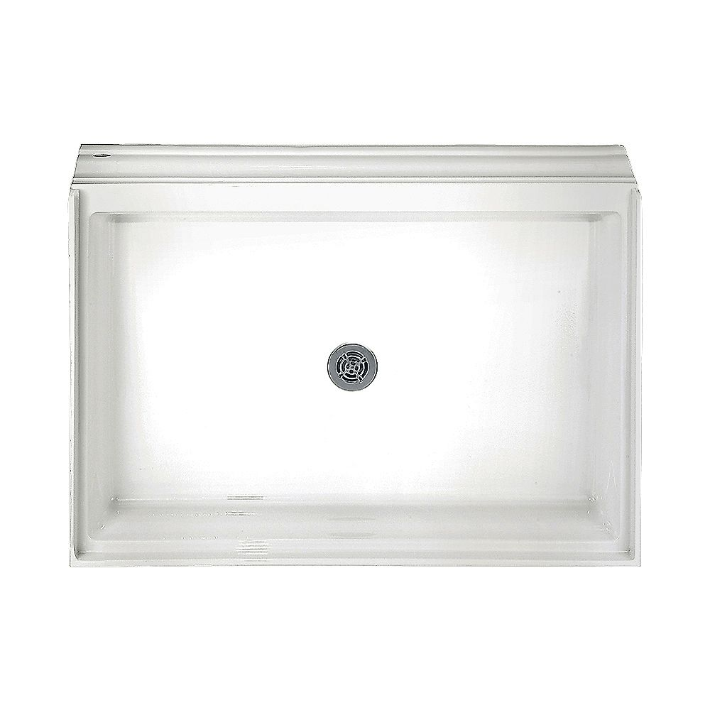 American Standard 34-1/8 Inch x 60-1/8 Inch Acrylic Single Threshold Shower Base in White