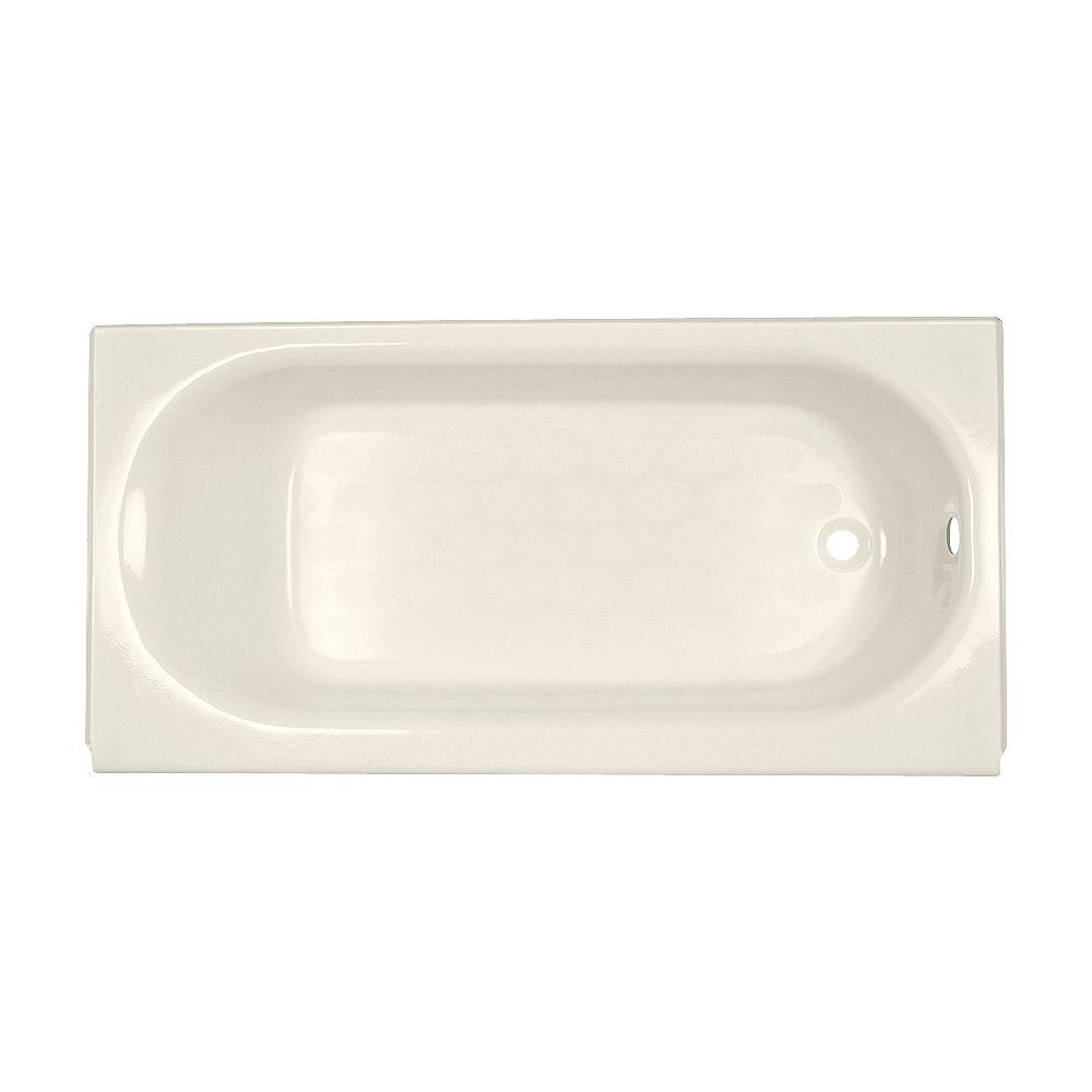 American Standard Colony 5 ft. baignoire en acrylique courbée en alcove avec drain réversible en os