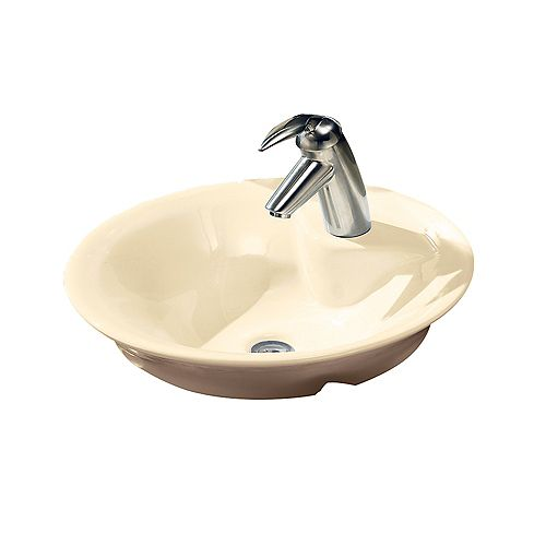 American Standard Morning Circular Single Hole Vessel Sink in Bone
