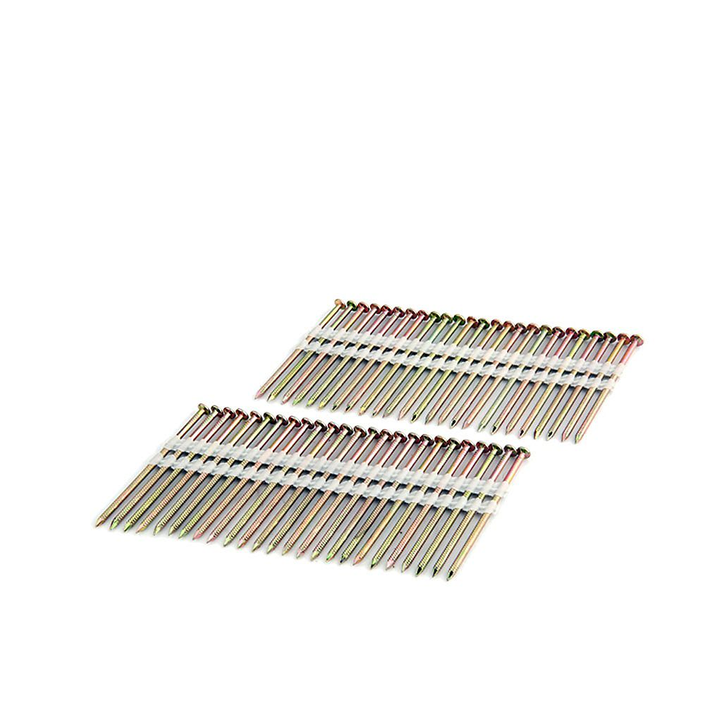 Freeman 3 Inch Coated - Plastic Collated - Galvanized Ring Shank - .120 Inch 2K Color Box