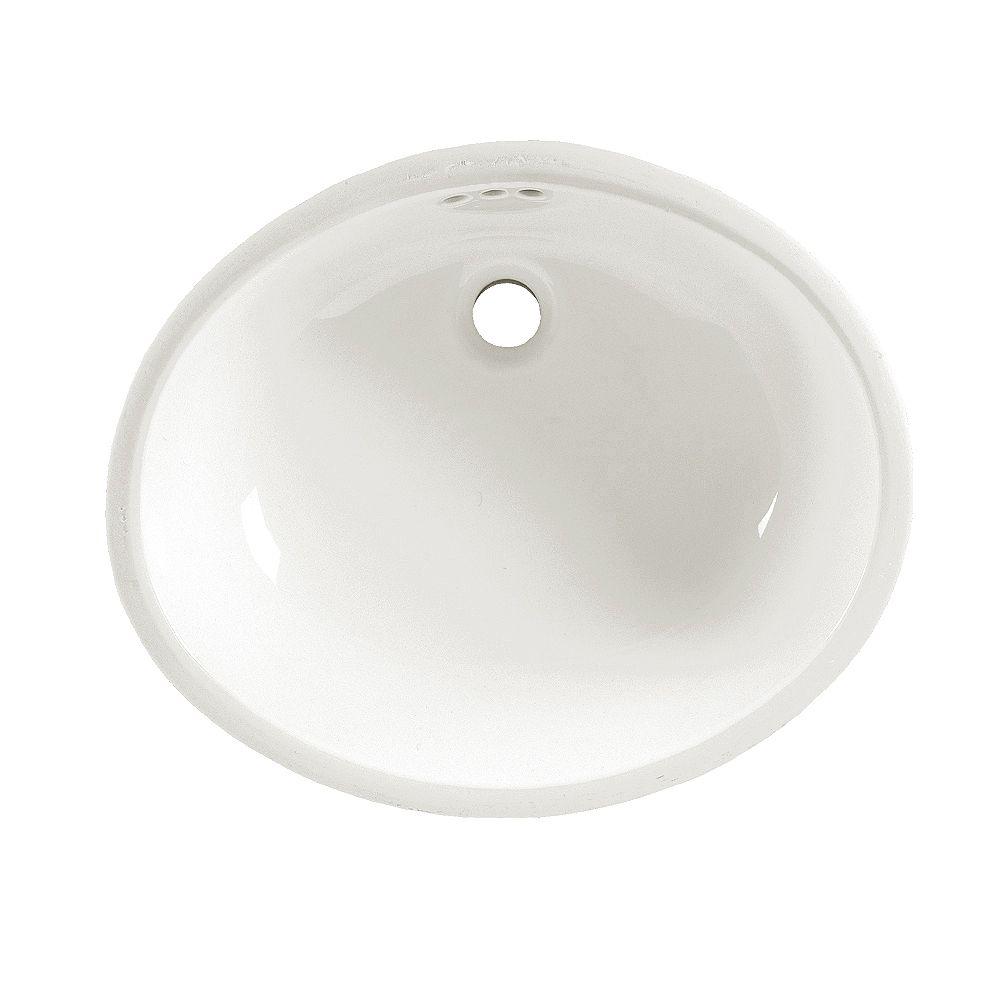 American Standard Lavabo de salle de bains sous plan Ovalyn en blanc