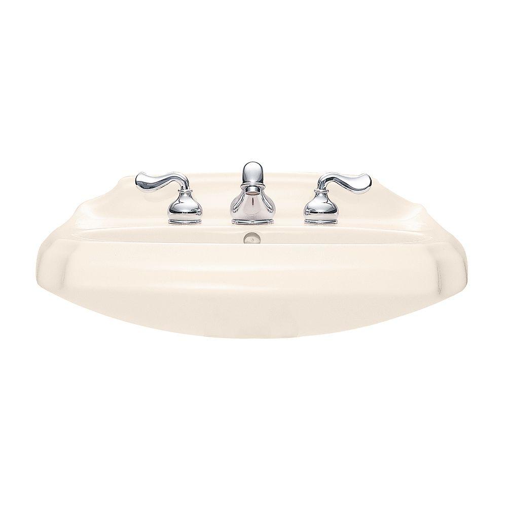 American Standard Lavabo de salle de bains antique sur pied en lin