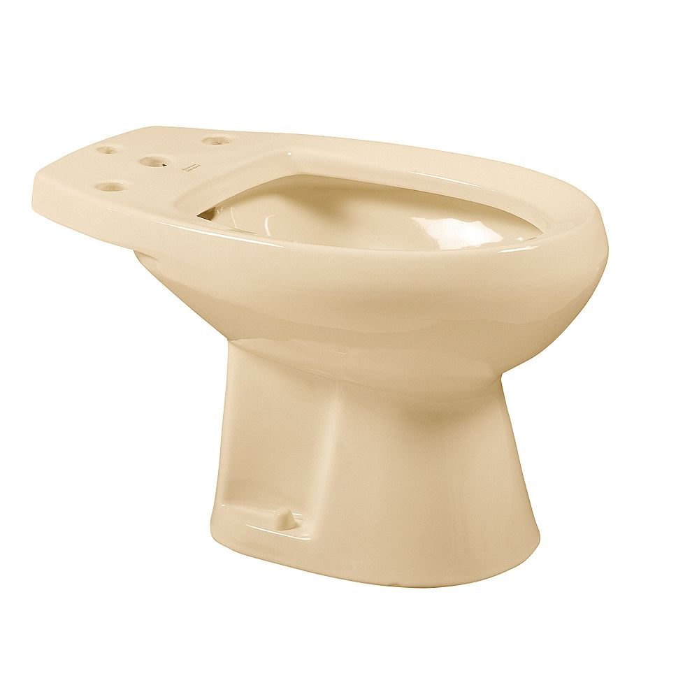 American Standard Cadet Round Front Bidet in Bone for Deck Mounted Fitting