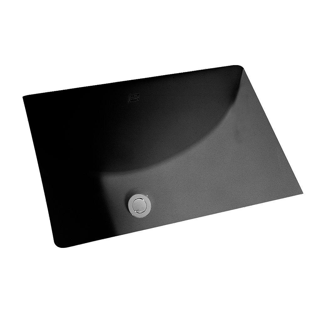 American Standard Studio Rectangulaire 21 1/4-inch x 15 1/4-inch Salle de bain rectangulaire sous le lavabo en noir