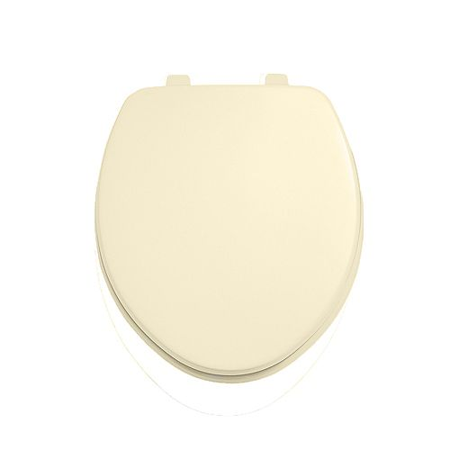 American Standard Laurel Round Closed Front Toilet Seat in Bone