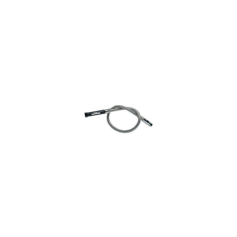 Encore Remplacement Premium pré-rinçage tuyau 44po (1118 mm) de longeur, avec poignée, enveloppe extérieure en acier inoxydable avec renforcé noyau de santoprene de nylon