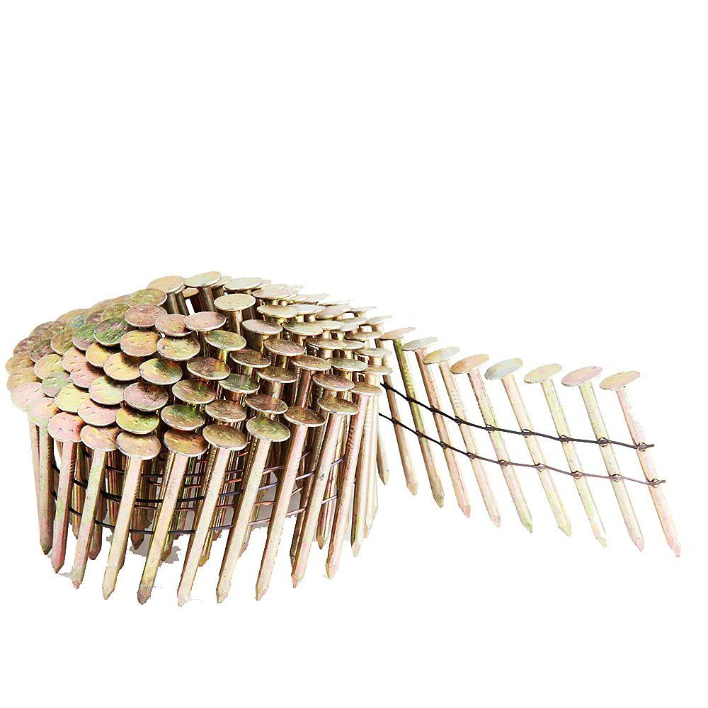 Freeman Clous à toiture en bobine 1 1/4 po, boîte colorée de 7 200