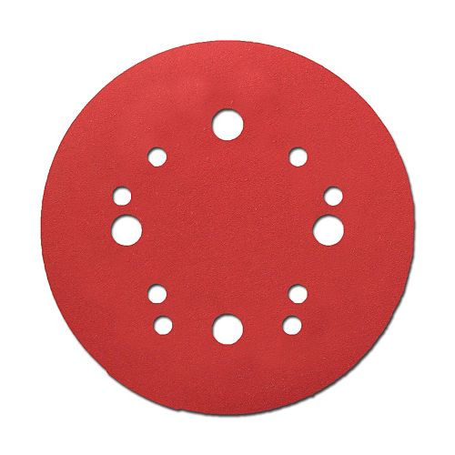 5-inch Medium Finish 100 Grit Hook and Loop Random Orbital Sand Paper (ROS) Disc for Wood/Metal/Plastic Sanding (15 Pack)
