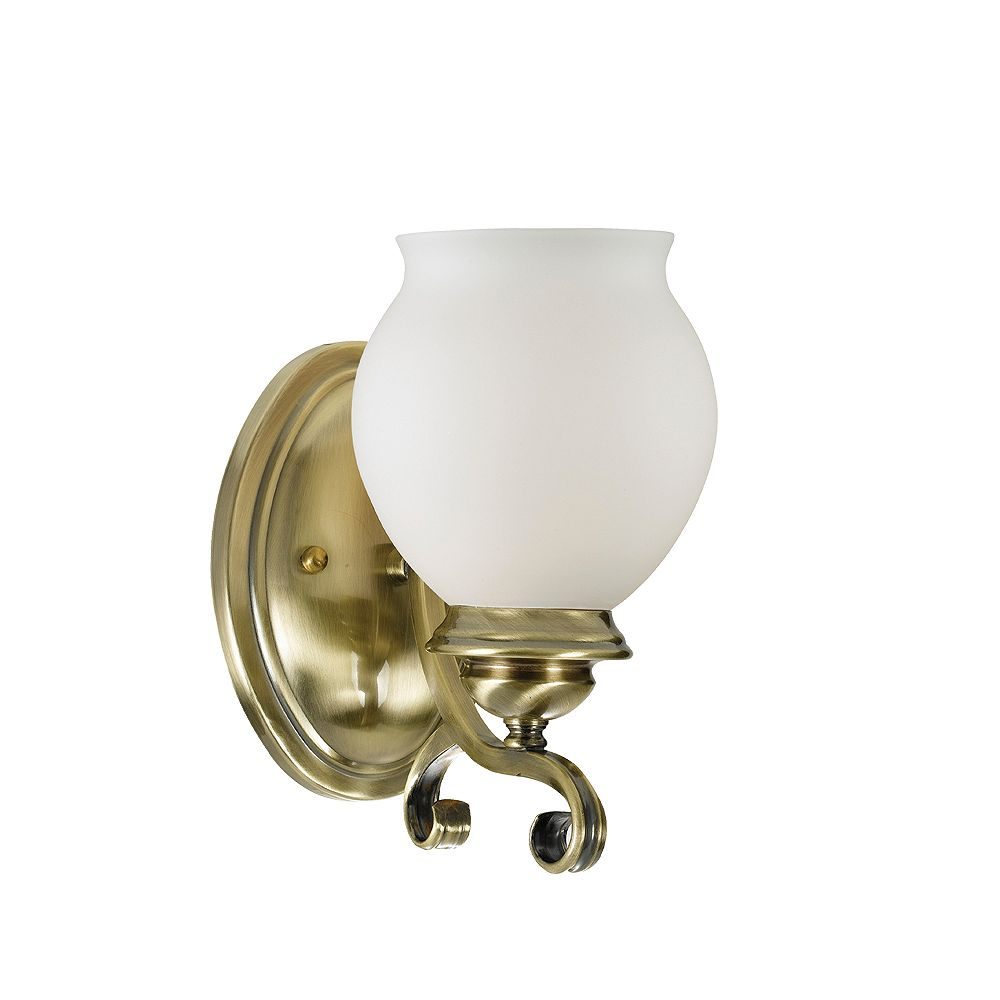 Eurofase Beatrice Collection 1-Light Antique Brass Wall Sconce