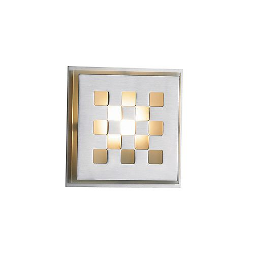 Chex Collection 1-Light Satin Nickel Wall Sconce