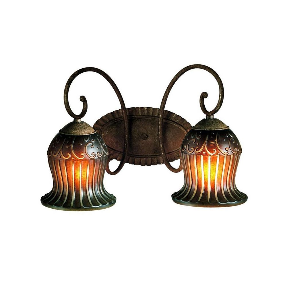 Eurofase Fenton Collection 2-Light Aged Taupe Wall Sconce