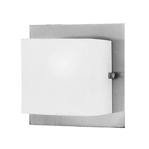 Talo Collection 1-Light Wall Sconce in Satin Nickel