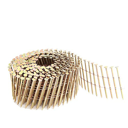.92 Inch 2 Inch Coil Siding Nail - Wire Collated Ring Shank Galvanised 3.6K Color Box
