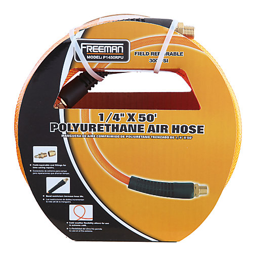 1/4-inch x 50 ft. Polyurethane Air Hose with Field Repairable Ends