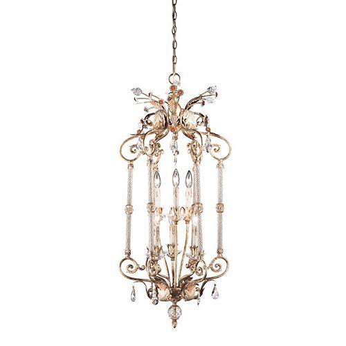 Eurofase Dahlia Collection 6-Light Antique Gold Large Pendant