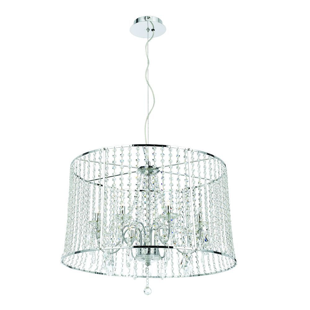 Eurofase Nayna Collection 8-Light Chrome Large Pendant