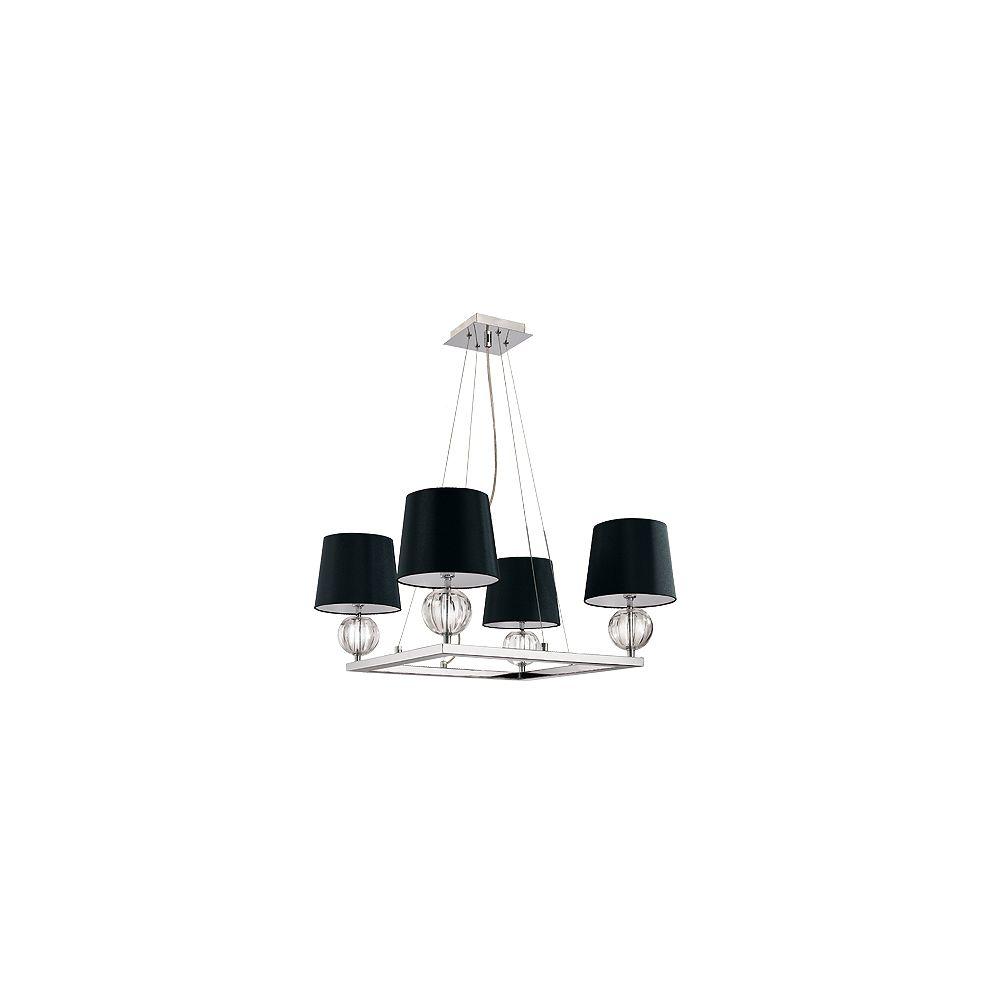 Eurofase Speranza Collection 4-Light Chrome/Black Pendant