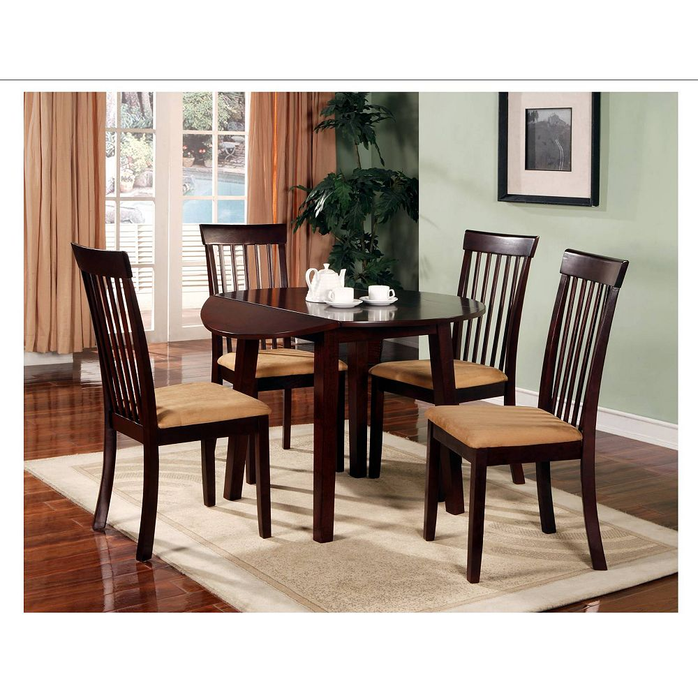 Silver Dining Table And Chairs, Worldwide Homefurnishings Inc Broadway 5 Piece Drop Leaf Dining Set The Home Depot Canada