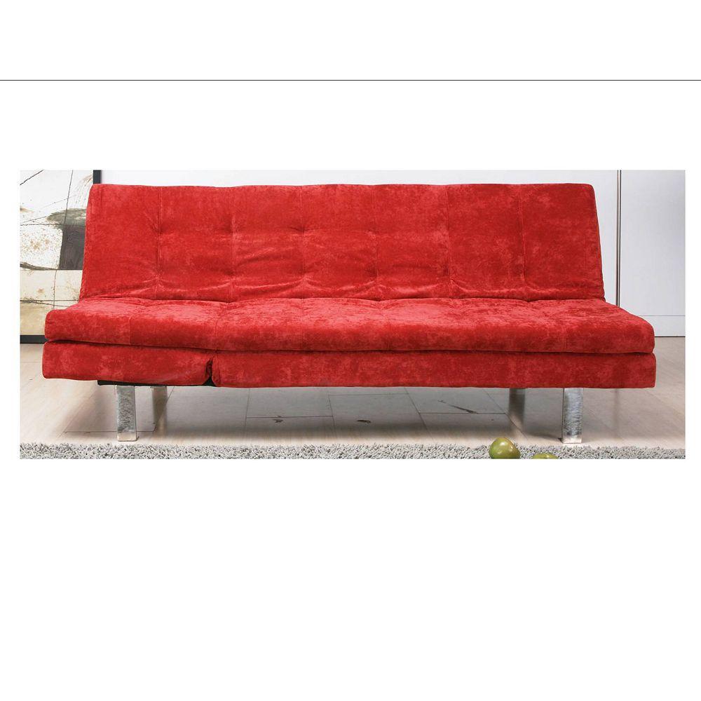 Worldwide Homefurnishings Inc. Magnum Klik Klak Convertible Sofa Bed - Red