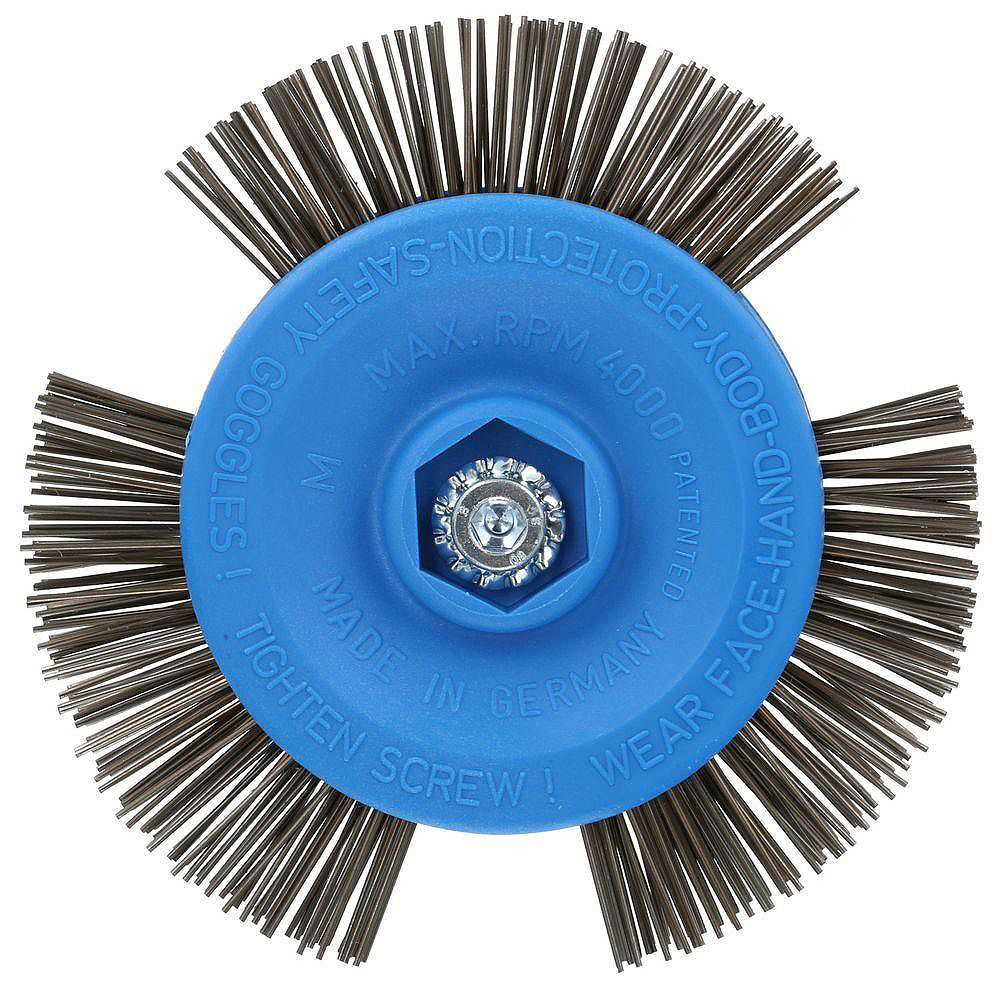 Avanti Pro 4-inch Quick Stripping Wire Brush/Wheel for Masonry and Metal Stripping