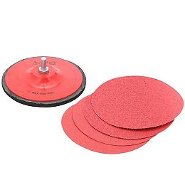 5-inch Multi Finish 40-120 Grit PSA Random Orbital Sand Paper (ROS) Sand Paper Disc Kit/Set for Wood/Metal/Plastic Sanding (4 Pieces)