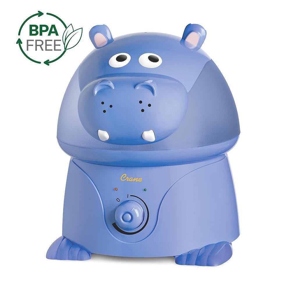 Crane Ultrasonic Cool Mist Humidifier, Hippo