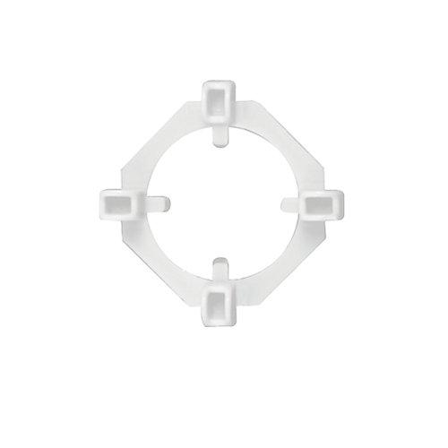 Cales d'Espacement Claires 2-en-1, 1/16 et 3/16 po., 100 cales et 50 anneaux