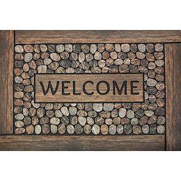 Welcome Brown 2 ft. x 3 ft.  Indoor/Outdoor Rectangular Door Mat