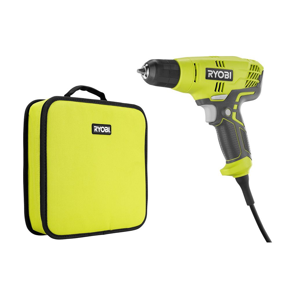 RYOBI 5.5-Amp Corded 3/8-inch Variable Speed Compact Drill/Driver with Bag