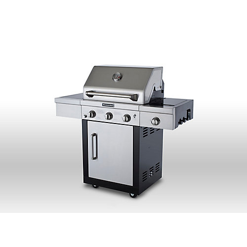 3-Burner Propane Gas BBQ with Side Burner