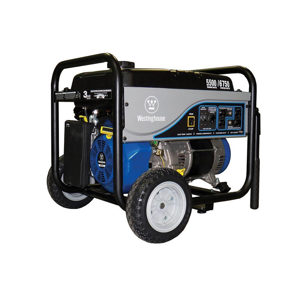 Westinghouse 5,500W Gasoline Powered Portable Generator