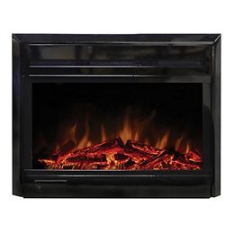 28-inch x 18-inch Electric Fireplace Insert with Gentle-Touch Controls