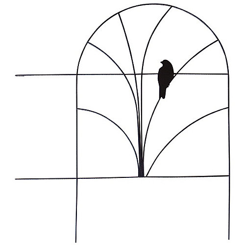 Bird Design 18-inch x 5 ft. Wire Folding Fence